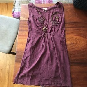 MAX STUDIO silk dark purple dress